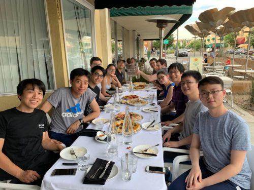 Spring 2019 Group dinner
